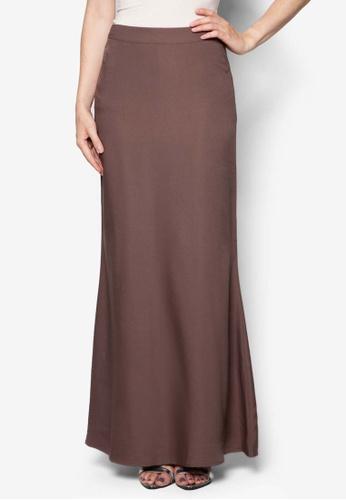Soonaru brown Mermaid Skirt SO461AA70AABMY_1