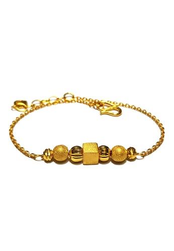 LITZ gold LITZ JINXI 999 (24K) Gold Beads Bracelet 08DDDAC16A8F6AGS_1