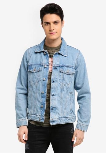 Abercrombie & Fitch blue Denim Jacket DA4A1AA55E5385GS_1