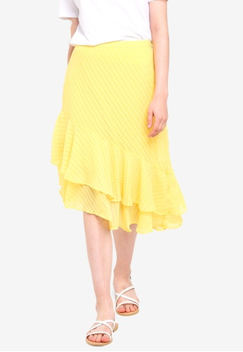 Pieces yellow Nika Midi Skirt F1B08AADAC3125GS_1