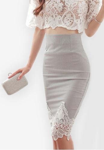 Sunnydaysweety grey 2018 S/S New Bodycon Mini Skirt AD805AA818FFC8GS_1