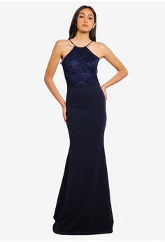17211b3a0a70f 40% OFF MISSGUIDED Bridesmaids Scallop Trim Maxi Dress S$ 85.90 NOW S$  51.90 Sizes 6 8 10 12 14