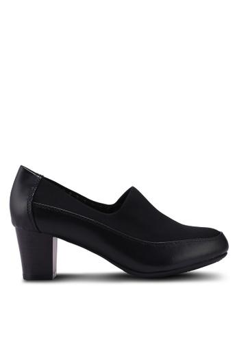 Bata 黑色 舒適粗跟鞋 D858FSHC69683DGS_1