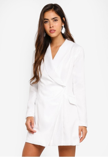 0d2a3e2b3d Shop MISSGUIDED Petite Asymmetric Blazer Dress Online on ZALORA Philippines