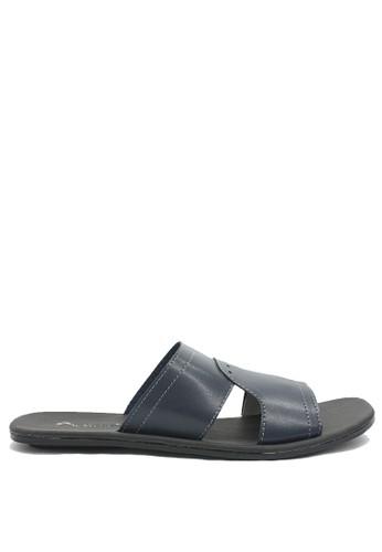 Dr. Kevin blue Dr. Kevin Mens Leather Sandal 97195 - Blue DR982SH0VWCPID_1