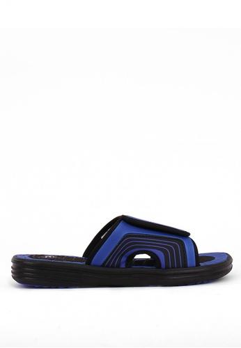 World Balance black and blue Beach Break Mens Slippers 881E2SHBCA4D15GS_1