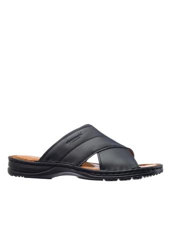 Obermain black Obermain Men's Galen Harlord Sandal - Black 656C1SHC404425GS_1