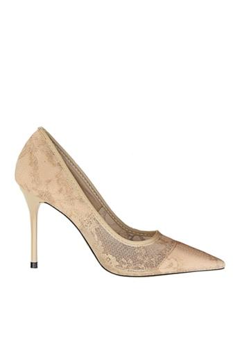 Twenty Eight Shoes 米褐色 性感蕾絲晚裝及新娘鞋 VP18531 E4CB8SH66A9140GS_1