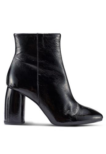 River Island 黑色 時尚高跟靴 1B9FCSH40A733BGS_1