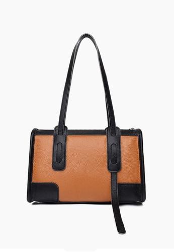 Lara orange Women's Retro Cowhide Zipper Handbag - Orange 98A28AC9FBA9F2GS_1