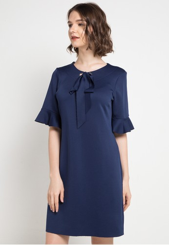 ELLE navy The Rope And Bell Models Dresses A393EAA78E21B5GS_1