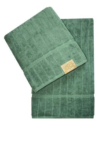 Cotton Fields green Cotton Fields Bath Towel Stripes A55EDHLA74145BGS_1