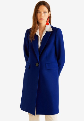 Mango blue Structured Wool Coat 3E242AAE910F50GS_1
