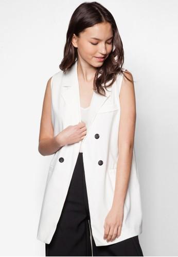Jeannie 翻領無esprit 羽絨外套袖外套, 服飾, 服飾