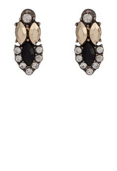 Sapphire 閃石造型耳環