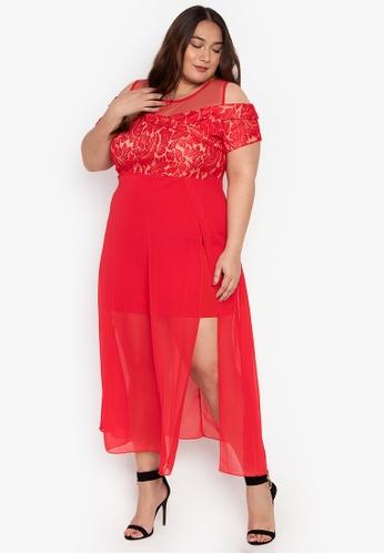 ca5f383ffc7 Shop Get Laud Plus Plus Size Juliana Maxi Dress Online on ZALORA ...