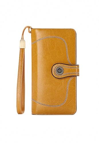 Twenty Eight Shoes yellow VANSA Burnished Leather Bi-Fold Long Wallet VBW-Wt5186 1EF47AC2F0AC26GS_1