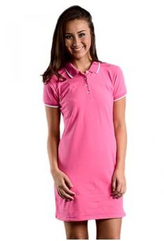 Newyork Army Polo Fit Shirt Dress - Pink