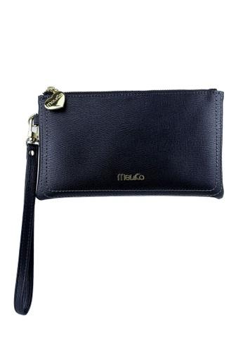 Mel&Co black Faux Leather Clutch Wristlet 14BB0AC6A8BEBBGS_1