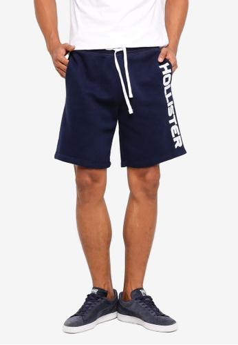 Hollister 海軍藍色 刺繡短褲 C4A49AA04B5821GS_1