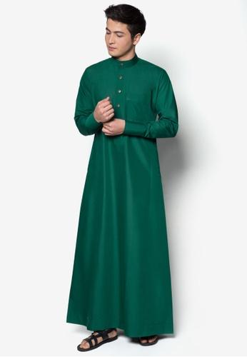 Amar Amran green Jubah A Slim Fit AM362AA85MJAMY_1
