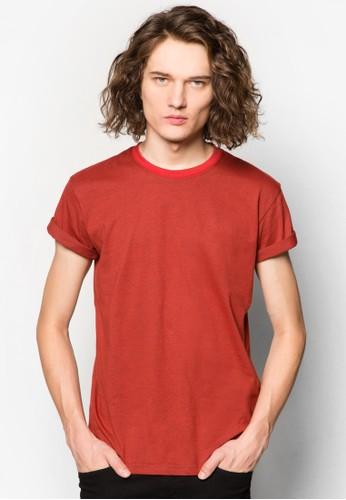 基本esprit地址素色TEE, 服飾, T恤