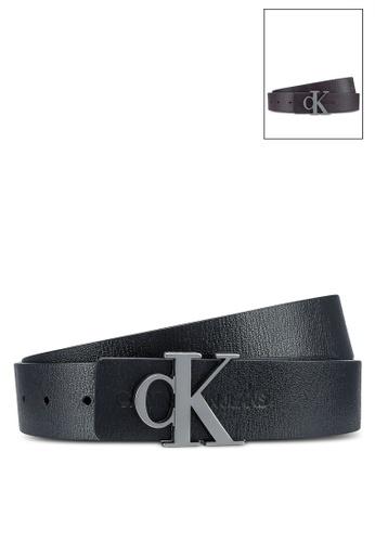 Calvin Klein black Flat Mono Rev Plaque Belt (35Mm) - Calvin Klein Jeans Accessories 7A635AC2489924GS_1