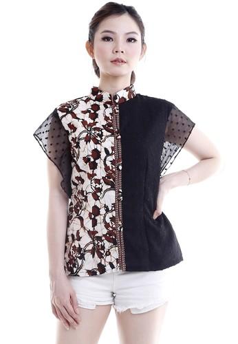 DhieVine Batik black and brown Aprahita Jalaran Blouse A7C27AACBA0903GS_1