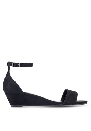 ZALORA black Low Wedge Sandals 1BF53SHA346ED5GS_1
