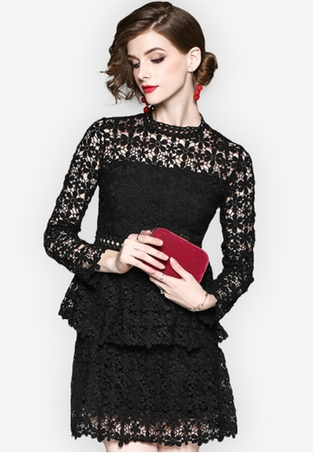 Sunnydaysweety black 2018 Spring New Lace One Piece Dress 00C71AA17171B0GS_1