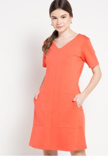 Chanira orange Leandra Dress CH930AA14CZHID_1