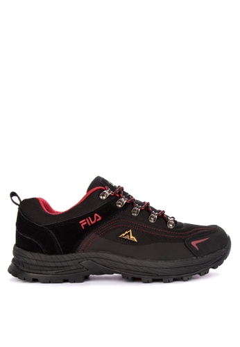 Fila black and multi E Encourage Outdoor Trail Shoes 603DBSH58FD1F5GS_1