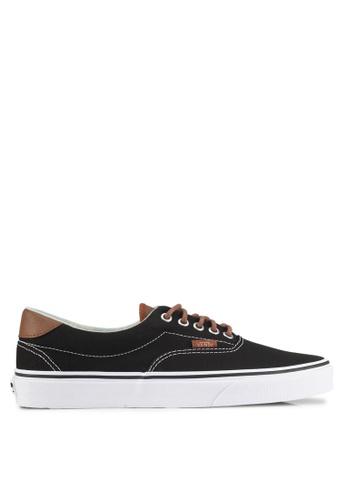 VANS black and brown Era 59 C&L Sneakers VA142SH0SWRBMY_1