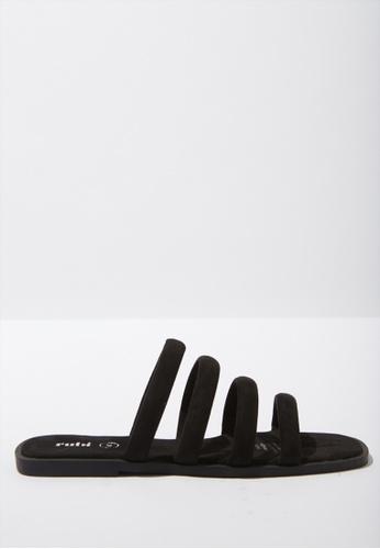 Rubi black Chole Strappy Sandal 90D17SH7229BEEGS_1