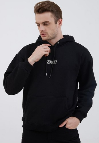 Berrybenka Label black Men Hoodie Outerspace Adventure Black 2BC7CAA5347F3BGS_1