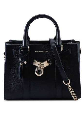 MICHAEL KORS black Nouveau Hamilton S Satchel Bag (zt) 7542DAC01EA3D1GS_1