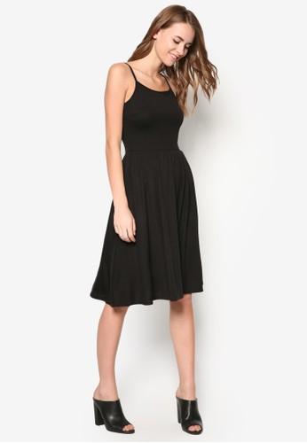 基本款傘擺及膝連身裙, 服飾,zalora 男鞋 評價 洋裝