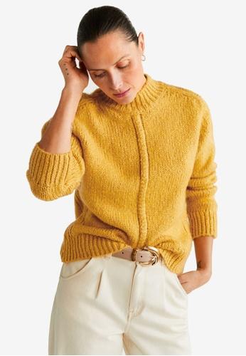 best authentic best shoes sale online Buy Mango Contrasting Knit Sweater   ZALORA HK