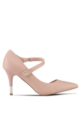 VINCCI beige Strappy Pump Heels 70D5FSH79262E4GS_1