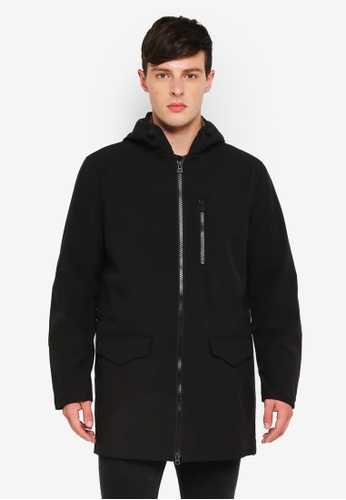 United Colors of Benetton black Hooded Jacket D4AC8AA0DDBED1GS_1