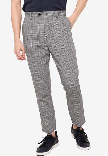ZALORA BASICS black and multi Slim Trousers 6FBC3AA5E4C7C4GS_1