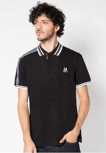 Black Striped Collar 02 Polo