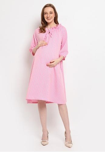 Chantilly pink Chantilly Maternity Dress D521FAAB897631GS_1