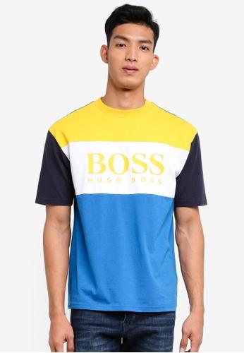 BOSS 藍色 短袖撞色T恤 3A8A8AAB0A953FGS_1