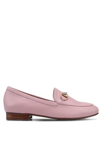 prettyFIT pink Metallic Buckles Loafers 2DD0ASH32BB75AGS_1