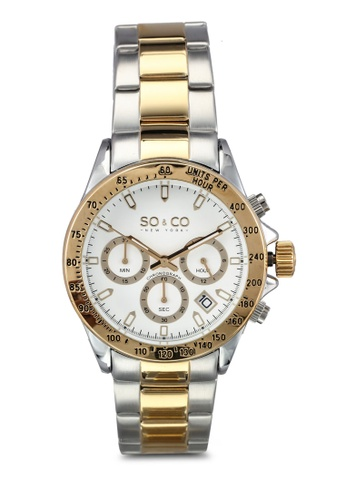 SO&CO silver and gold Monticello Watch 5001A SO540AC0SHLDMY_1
