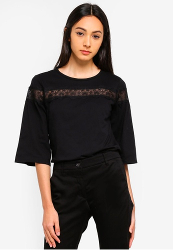 Sisley black Lace Blouse. CAF76AA9716686GS_1