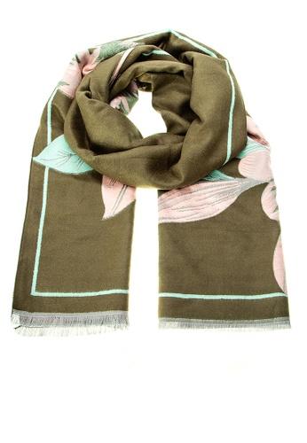 Irene green Marseille Scarf - Wool 6D5B1ACE453DE2GS_1