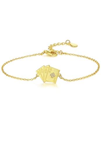 SUNRAIS gold Premium Silver S925 Gold Fashion Bracelet 5F28DAC203F43EGS_1