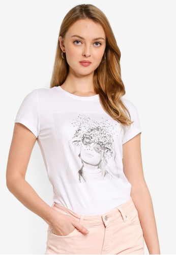ONLY white Ellie Life Fit Short Sleeves Box Tee F4BAAAA0E62B80GS_1